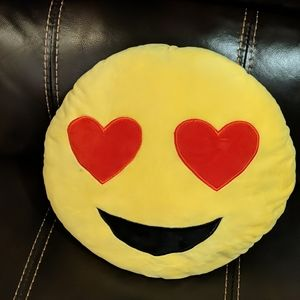 Emoji Pillow Heart Eyes and Smile